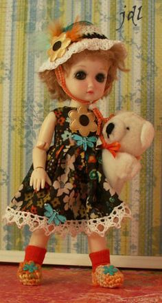"""Handmade Outfit for 8"""" BJD StrawBerina by JDL Doll Clothes and similar 8"""" Dolls"""