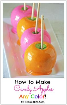 Top 10 Most Popular Posts of 2013...colored (hard) candy apples...cute wedding favor?