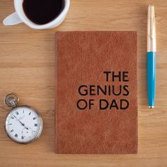 Leather notebook for Dad  Father's Day  Gift for Daddy