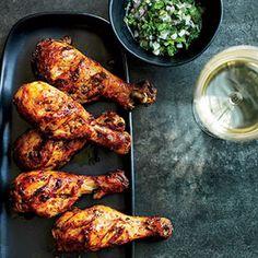 Tandoori Chicken Drumsticks with Cilantro-Shallot Relish Recipe - Delish