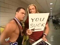 Edge Makes Fun Of Kurt Angle - WWE was funny before the PG Era, as well!