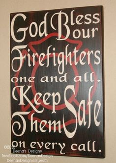 Firefighter Blessing With Large Maltese by DeenasDesign on Etsy, $41.00