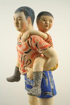Akio Takamori' Boy in Blue Shorts