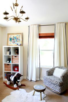 ribbon trimmed curtains