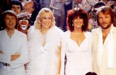 "More alternate pics of ABBA during the ""Super Trouper"" shoot in October 1980."