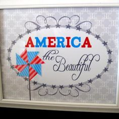 America the Beautiful Free Printable (Fourth of July)
