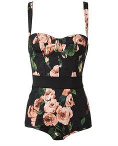 Floral Printed Bodysuit !