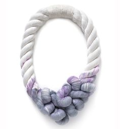 Dip dyed twisted rope necklace - textiles jewellery // Tanya Aguiniga