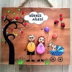 Image may contain: 1 person Worli Painting, Stone Art Painting, Rock Painting Designs, Pebble Painting, Baby Activity Chair, Stone Pictures Pebble Art, Art For Kids, Crafts For Kids, Pebble Art Family