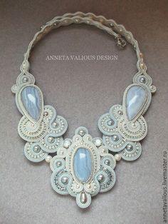 Lace Jewelry, Handmade Jewelry, Soutache Necklace, Shibori, Diy Fashion, Gems, Pendants, Jewels, Bracelets