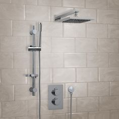 Shower Set with fixed shower head & arm