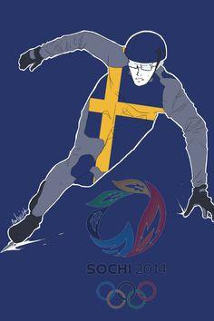 Ah kiitos Berwald sul on kypärä päässä. Fifth in a series showing the Hetalia Nordics as athletes in the 2014 Sochi Winter Olympics: Berwald as a speed skater - Art by inverted-typo.tumblr.com