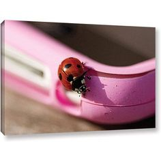 Lindsey Janich Iphone Bird Gallery-Wrapped Canvas, Size: 24 x 36, Red