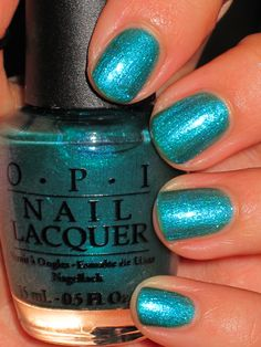 O.P.I.- Austin-Tatious Turquoise. I need this color immediately!! <3