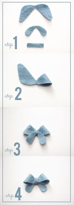 Bows for the baby - clips and headband craft project for the shower~ simple and petite felt bows at kiki and company with free template! Felt Diy, Felt Crafts, Fabric Crafts, Sewing Crafts, Sewing Projects, Kids Crafts, Felt Flowers, Fabric Flowers, Bow Template