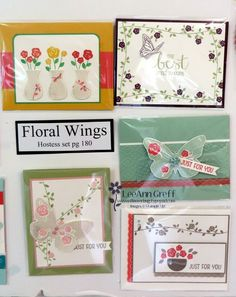 Floral Wings; New Catalog Boards from my Open House from Flowerbug's Inkspot