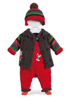 All in One with Warm Cardigan and Hat #baby #boy #catimini