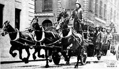 FDNY Ladder 8 Horse drawn Ladder Company. ORGANIZED. 153 Franklin St. (Oct. 16, 1865)  PRESENT QUARTERS 14 North Moore St. (Jun. 18, 1905)