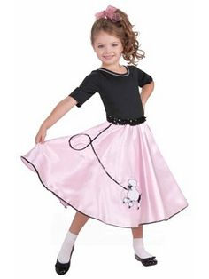 Child Pretty Poodle Princess Costume   Wholesale 50's Halloween Costume for Girls