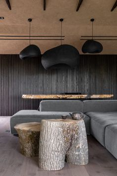 """Sergey Makhno Architects have designed an apartment inspired by the Wabi Sabi technique, the """"Ukrainian Wabi Sabi. apartment"""", in Kozyn, Kyiv. Wabi Sabi, Rooms Decoration, Decoration Design, Decoration Inspiration, Interior Inspiration, Casa Wabi, Interior Minimalista, Interior Decorating, Interior Design"""