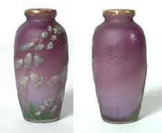 FRENCH GLASS, Burgun & Schverer, Vase
