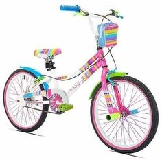 Avigo Big Rainbow Pink BMX Road 20 Inch Bike Bicycle Two Wheel For Little Girls4  Type - Kids Bike, BMX Bike, Road Bike, Gender - Girls, Wheel Size - 20, Frame Size - 20, Frame Material - Steel, Brake Type - Handbrakes, Features - Adjustable Seat, Color - Rainbow Pink,