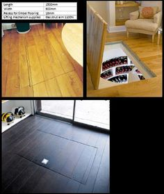 A trap door... for your wine cellar!