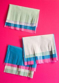 DIY Multicolored Tissue Garland! #diy
