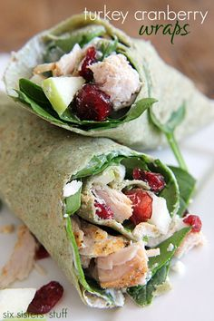 Turkey Cranberry Wraps - the perfect lunch idea!