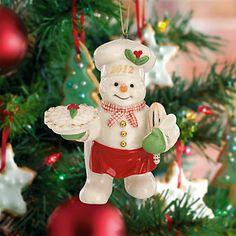 Snowy Baker Snowman Ornament by Lenox