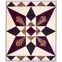 Desert Star Quilt Pattern. This quilt is beautiful and easy to make. The graceful angle of the star points is created using Lazy Angle blocks as directed in the pattern. http://www.kayewood.com/item/Desert_Star_Pattern/1268 $7.00