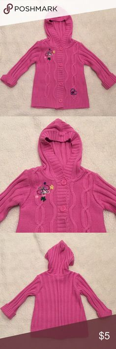 Children's Place pink sweater Pink sweater, size 3T.  Small pick on back of left arm, see picture. Children's Place Shirts & Tops Sweaters