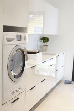 There are many laundry room designers who can aid with the decisions. If you find ideas about laundry room, look at this gallery above. Laundry Closet, Laundry Storage, Small Laundry, Laundry In Bathroom, Laundry Baskets, Closet Nook, Bathroom Bench, Room Interior, Interior Design Living Room