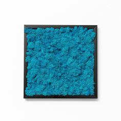 A frame with blue moss recalls you the bright summer days with a clear blue sky.