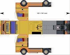Free Download Paper Model Trucks | Trailer-Campanones