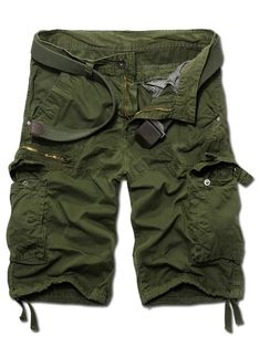 Casual Straight Leg Zipper Fly Camo Multi-Pockets Shorts For Men from 37.72$ by SAMMYDRESS