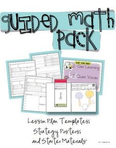 Guided Math Pack..This is for sale, but even starting with very young children these strategies apply. READ / LOOK at this.