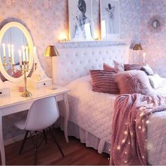 50 inspiring bedroom ideas for teen girls you will love 50 – Home Dekor Bedroom Ideas For Teen Girls, Blue Teen Girl Bedroom, Cute Bedroom Ideas, Room Ideas Bedroom, Girl Bedroom Designs, Teen Girl Bedrooms, Cozy Bedroom, Bedroom Decor, Girl Room