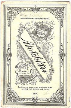 Portrait Card 1891