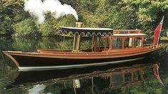 Wisp a beautiful steam powered launch. Peter Freebody River Craft