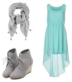 """Blue dress with a touch of grey"" by shayela-pottle on Polyvore featuring WithChic, Duck Farm, women's clothing, women, female, woman, misses and juniors"