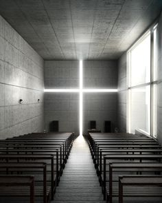 Church Of Light, Ibaraki, Osaka Prefecture. Designed by Tadao Ando.