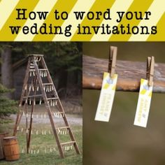 How to word your wedding invitations!