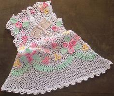 Crochet y Bebê: PAP do Vestido em Crochet Irlandês feito por mim