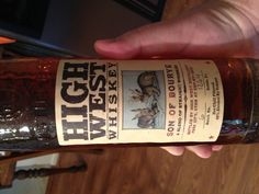 High West Whiskey - Utah-based blended - Sweet nose with nice vanilla hint. Warm full tongue flavor. Hard rim burn. Rye really comes out hard. Flavorful aftertaste. Good but harsh. Cut it. 92 proof.