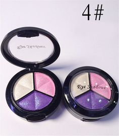 Dropshipping 3 Mixed Colors Women Comestic Eyeshadow Long Lasting Makeup Eye Shadow
