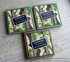"""Скрапинки от Машуки: Коробочка с конфетами """"Боеприпасы настоящего мужчины"""" (МК + схема)"""