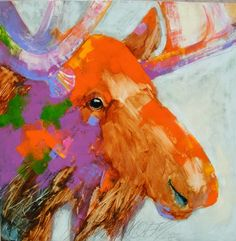 Sarah Rogers uses watercolor, usually combined with graphite, and several layers of heavy color. Represented by Horizon Fine Art Gallery in Jackson Hole, Wyoming. Jackson Wyoming, Jackson Hole, Moose Deer, Moose Art, Oil Pastel Art, Bug Art, Found Art, Equine Art, Western Art