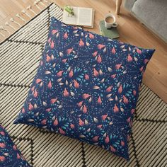 Floral Texture, Pillow Design, Floor Pillows, Flooring, Art Prints, Printed, Awesome, Pattern, Products