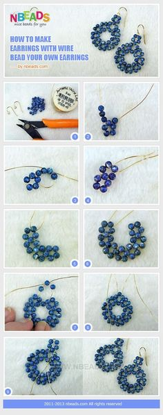 how to make earrings with wire-bead your own earrings by nadia
